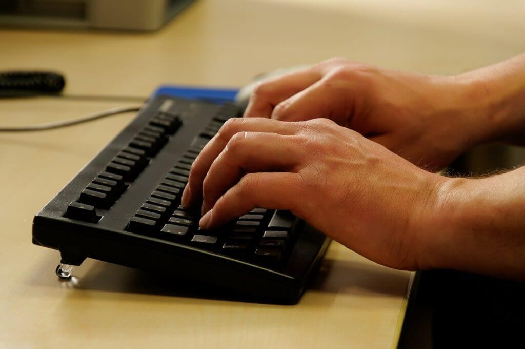 teclado mecanografía